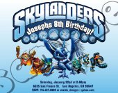 Skylanders  Birthday Invitation - Skylanders Giants Invitations 4x6/ 5x7 Digital File Design 1