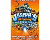 Skylanders  Birthday Invitation - Skylanders Giants Invitations 4x6/ 5x7 Digital File Design 3