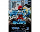 Smurfs  Birthday Invitation - Smurfs Invitations 4x6/ 5x7 Digital File Design 1