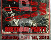 Crysis 3 Ticket Style Personalized Party Invitations - Style 1