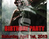Crysis 3 Ticket Style Personalized Party Invitations - Style 2
