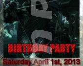 Crysis 3 Ticket Style Personalized Party Invitations - Style 4
