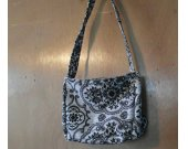 Small Black and White Handbag