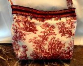 Red Toile Purse