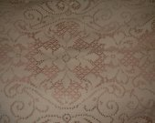 VINTAGE OFF WHITE table runner used 15 by 33 inches small stains