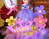 Disney Princess Sofia the First Personalized Custom Handmade Birthday Centerpiece