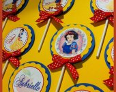 12 Disney princess Snow White Custom Handmade Personalized Cupcake Toppers assorted