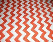 Riley Blake Chevron in Orange - 1 yard