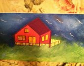 House in the storm painting