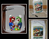 Super Mario Brothers Mini Drawstring Sport Pack - Great Party Favor Bags - Style 1