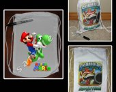 Super Mario Brothers Mini Drawstring Sport Pack - Great Party Favor Bags - Style 3