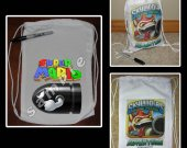 Super Mario Brothers Mini Drawstring Sport Pack - Great Party Favor Bags - Style 6