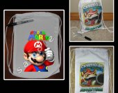 Super Mario Brothers Mini Drawstring Sport Pack - Great Party Favor Bags - Style 7