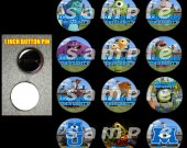 Monsters University Set of 12 1 Inch Pinback Buttons - Make Great Party Favors - Set 1