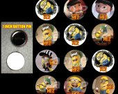 Despicable Me 2 Set of 12 1 Inch Pinback Buttons - Make Great Party Favors