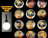 Despicable Me 2 Set of 12 Zipper Pulls - Make Great Party Favors