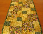 Handmade Table Runner Quilted Golden Color