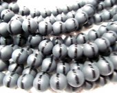 new style batch 10mm  matte black onyx  gemstone  round ball  veins black jet crab assortment jewelry  beads--5strands