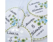 Personalized 1.75inch Circle Tags - 100 tags - Thank You - Love - Weddings - Bridal Shower -