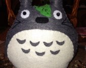 Hand stitched nice   MY NEIGHBOR TOTORO  a cute gift  in grey  perfect for centerpieces and gift for your party