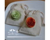 50 4x6inch - Muslin Bags- Baby Shower - Bridal Shower - Weddings - Favor Bags - Birthday - Candy Bags