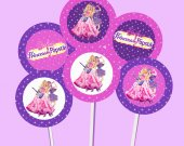Barbie Princess and the Popstar Cupcake Toppers or Stickers - Printable, Digital file
