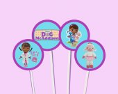 Doc McStuffin Cupcake Toppers or Stickers - Printable, Digital file