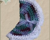 Handmade Round Dish Cloth Set of 2 -  Teal & Purple