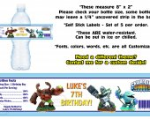 Skylanders Giants Spyros Swap Force Water Bottle Labels - PRINTED FOR YOU - Birthday Party Supplies Favors
