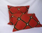 African Batik Pillow covers with cowrie shells ( 2 pcs)