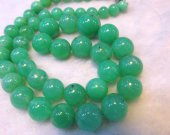 high quality gergous  natural chrysoprase  gemstone  round ball green jewelry necklace 6-12mm full strand 16inch
