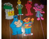 Sesame Street Themed Large Party Decoration picks, Elmo, Abby and Friends