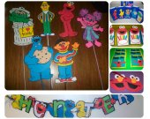 Large Sesame Street BIrthday Party Decoration package.