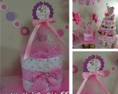 "Cute Diaper Cake - Baby Shower - Nursery Gift - It""s a Girl Theme"