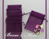 Purple Organza Bags - Set of 200 Bags - 4x6inch