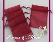 Wine Organza Bags - Set of 30 Bags - 4x6inch
