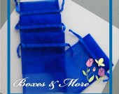 Royal Blue Organza Bags - Set of 30 Bags - 4x6inch