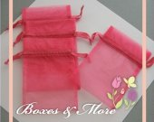 Pink Organza Bags - Set of 30 Bags - 4x6inch
