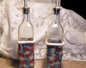 OOAK Oil and Vinegar Cruets designed in Milliefiori