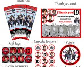 One Direction 1D Candy Bar Wrappers - Digital File, Printable