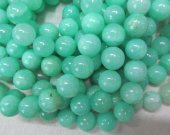 high quality lot genuine hemimorphite gemstone beads 14mm 2strands 16inch strand,  round ball green jewelry beads