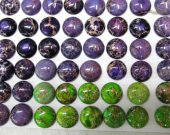 high quality LOT 22mm Cabochon Sea Sediment Jasper Green Oranger Purple Pink Red Mixed Jewelry Beads