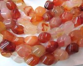 bulk 10x14mm high quality  genuine carnelian gemstone nuggets freeform cubic twist  jewelry beads --5strands 16inch/L