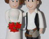 Han Solo and Princess Leia Wedding Cake Topper