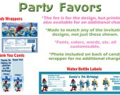 Smurfs 2 Personalized Birthday Party Favors Candy Wrappers Thank You Cards Smurffette Movie