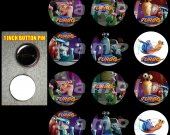 Turbo Set of 12 1 Inch Pinback Buttons - Make Great Party Favors