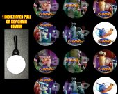 Turbo Set of 12 Zipper Pulls - Make Great Party Favors
