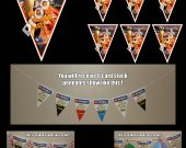 Turbo 6 Triangle Pennant Banner