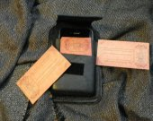 Custome leather iPhone 4 case  and Business card holder with Clip or belt hoop