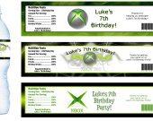 Xbox 360 Water Bottle Labels - PRINTED FOR YOU - Birthday Party Supplies Favors